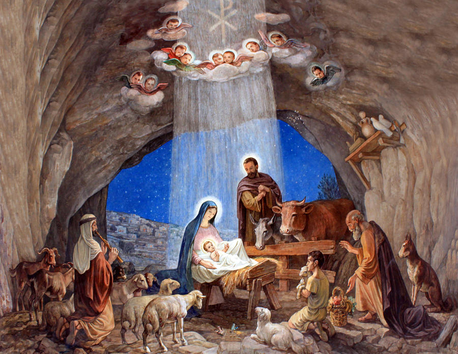 It's just a graphic of Dashing Nativity Christmas Images