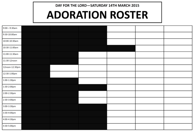 Day for the Lord Adoration Roster - for website